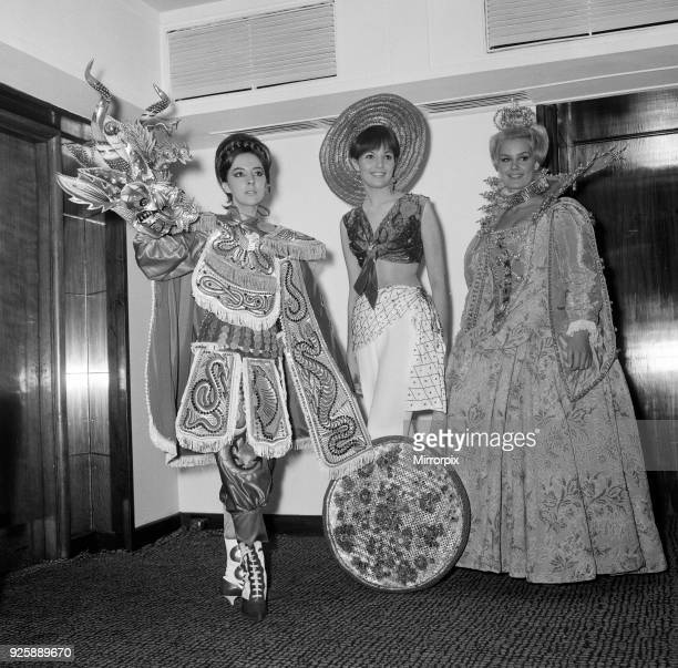 Miss World Contestants attend Variety Club of Great Britain Celebrity Luncheon at the Savoy Hotel London Monday 15th November 1965 Miss Bolivia...