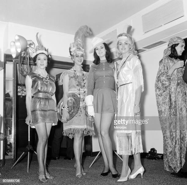 Miss World Contestants attend Variety Club of Great Britain Celebrity Luncheon at the Savoy Hotel London Monday 15th November 1965 Miss Ecuador...