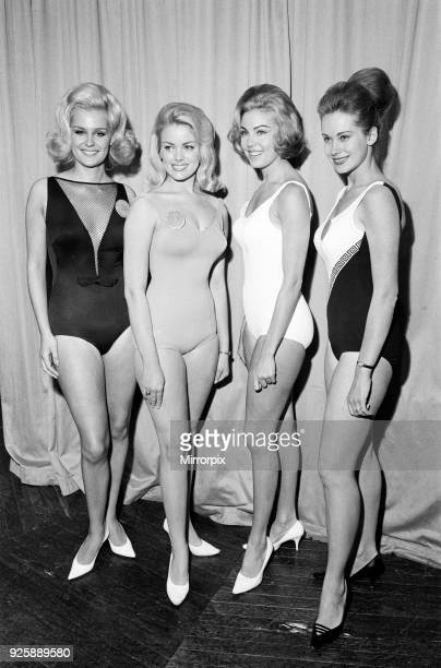 Miss World Contestants Photocall at the Lyceum Ballroom London Friday 12th November 1965 L R Miss United Kingdom Lesley Langley Miss United States...
