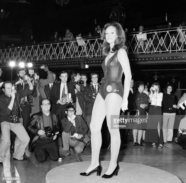 Miss World Contestants Swimsuit Costume Parade Royal Albert Hall London 9th November 1971 Miss Brazil Lucia Petterle