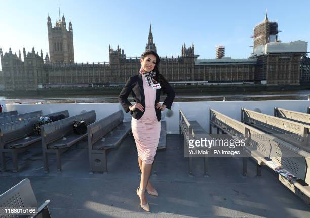 Miss World England Bhasha Mukherjee is amongst the Miss World 2019 contestants taking a boat cruise along the Thames to take in London's most famous...