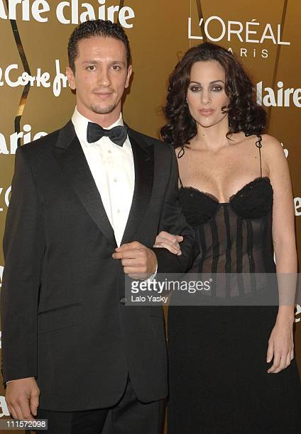 Miss World Jaqueline Aguilera and Adans Lopez during Marie Claire Awards in Spain November 16 2005 at French AmbassadorIes Residence in Madrid Madrid...