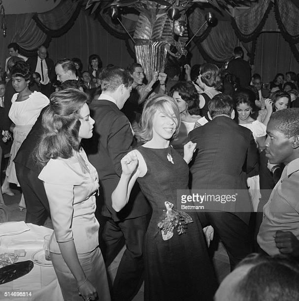 Miss World of 1964 Carol Joan Crawford from Jamaica dances to the Jamaican Ska music at Shepheard's night spot in New York