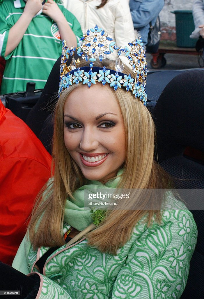 Celebrities attend st patricks day parade in dublin photos and miss world rosanna davison is grand marshall of the st patricks day parade on march 17 thecheapjerseys Images