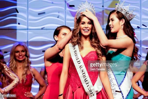 Miss World Winner Esma Voloder during the Miss World Australia 2016 National Final at Grand Hyatt Melbourne on July 14 2017 in Melbourne Australia