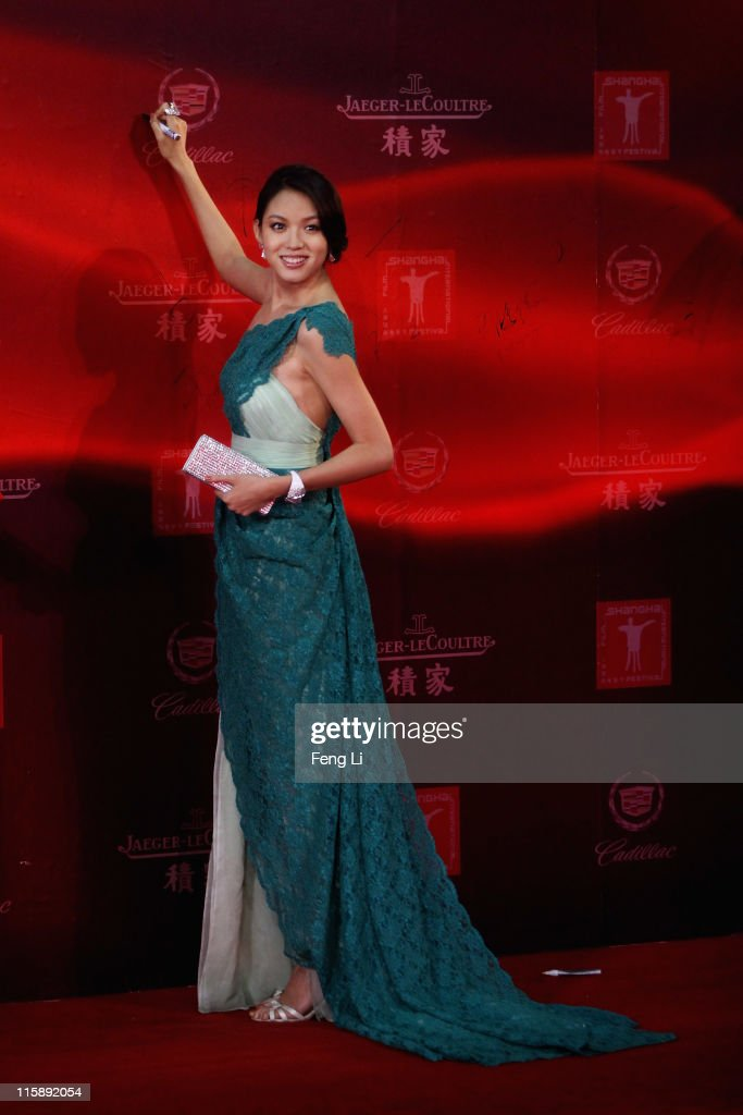 Miss World Zhang Zilin arrives at the opening ceremony of the 14th Shanghai International Film Festival on June 11, 2011 in Shanghai, China.