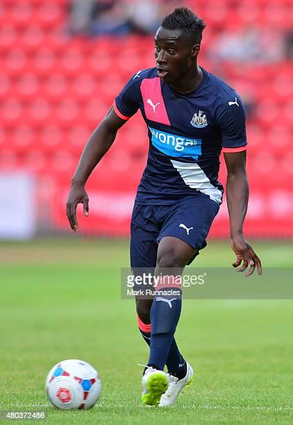 Missadio Haidara of Newcastle in action during the pre season friendly between Gateshead and Newcastle United at Gateshead International Stadium on...