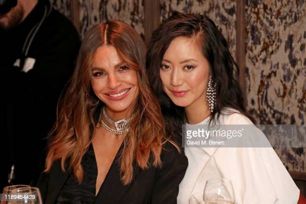 Misse Beqiri and Betty Bachz attend the Decorte Dinner at The Arts Club on December 18 2019 in London England