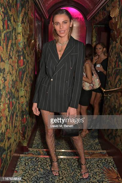 Misse Beqiri attends the Agent Provocateur AW19 campaign launch party in collaboration with Sink The Pink and CIROC Vodka at Annabel's on September...