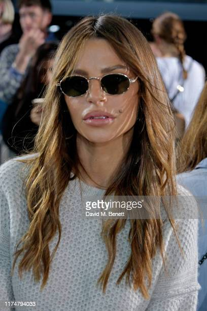 Misse Beqiri attends the David Koma front row during London Fashion Week September 2019at The Leadenhall Building on September 15 2019 in London...