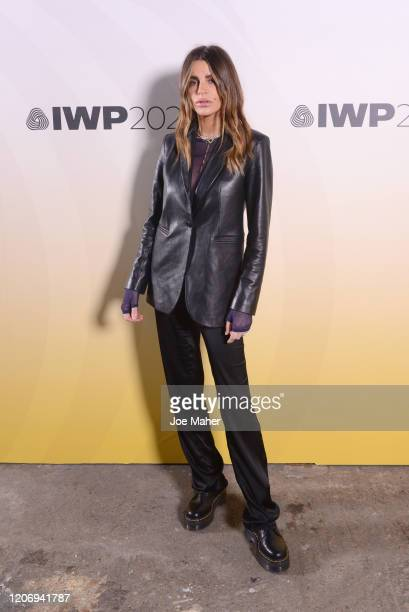 Misse Beqiri attends the International Woolmark Prize 2020 during London Fashion Week February 2020 at Ambika P3 on February 17 2020 in London England