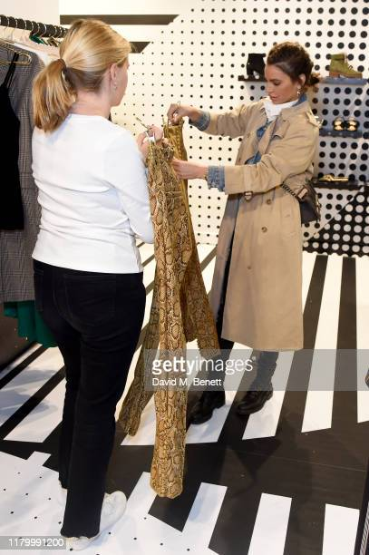 Misse Beqiri attends the launch of the British Fashion Council designer popup store at Bicester Village on October 09 2019 in Bicester England