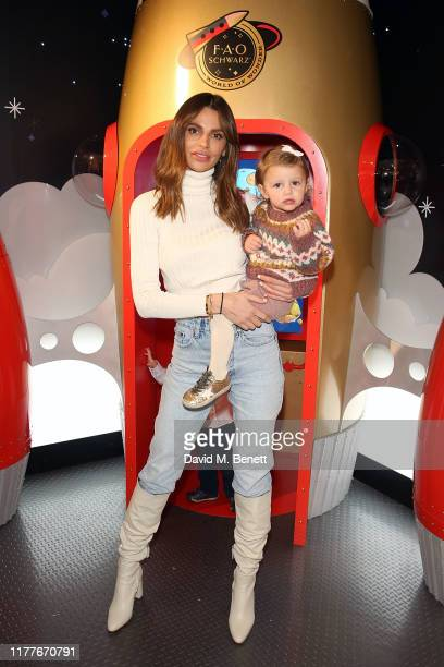 Misse Beqiri attends the launch of the FAO Schwarz space at Selfridges on October 22 2019 in London England