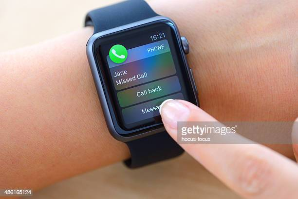 Missed call on Apple Watch