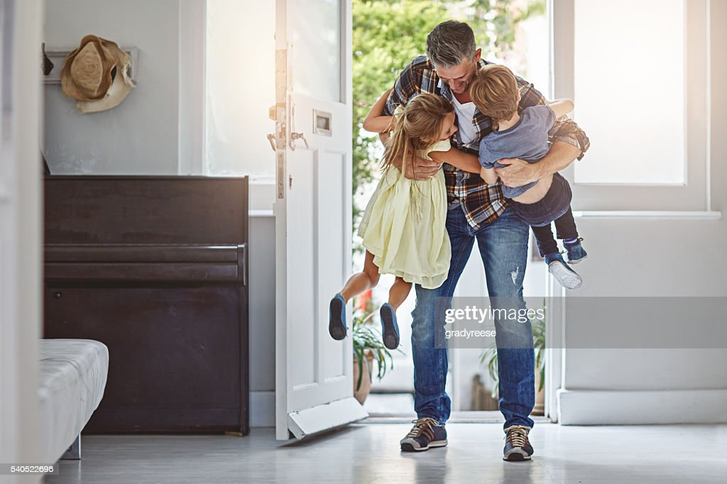I missed you guys so much! : Stock Photo