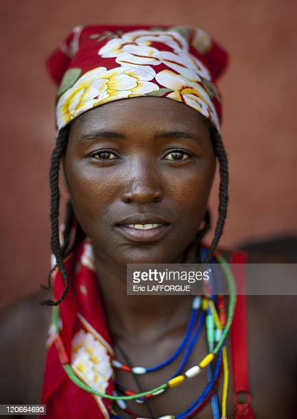 Misses Ceruma A Beggar Woman And Refugee Of The Angolan Civil War in Opuwo Namibia on August 19 2010 Woman who is a refugee from Angolan Civil War...
