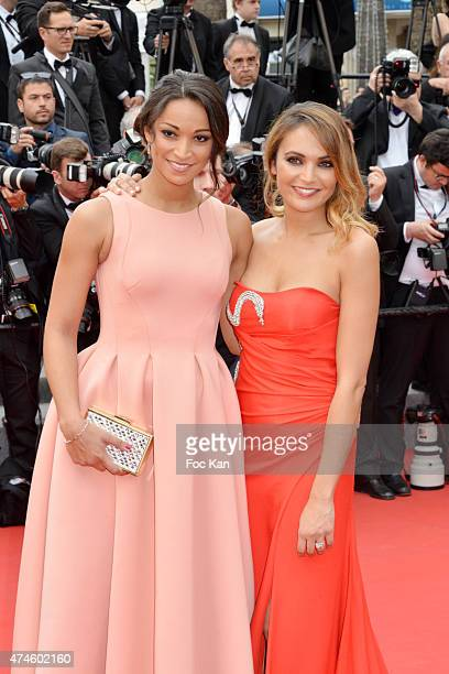 Misses France Cindy Fabre and Valerie Begue attend the Premiere of 'Macbeth' during the 68th annual Cannes Film Festival on May 23 2015 in Cannes...