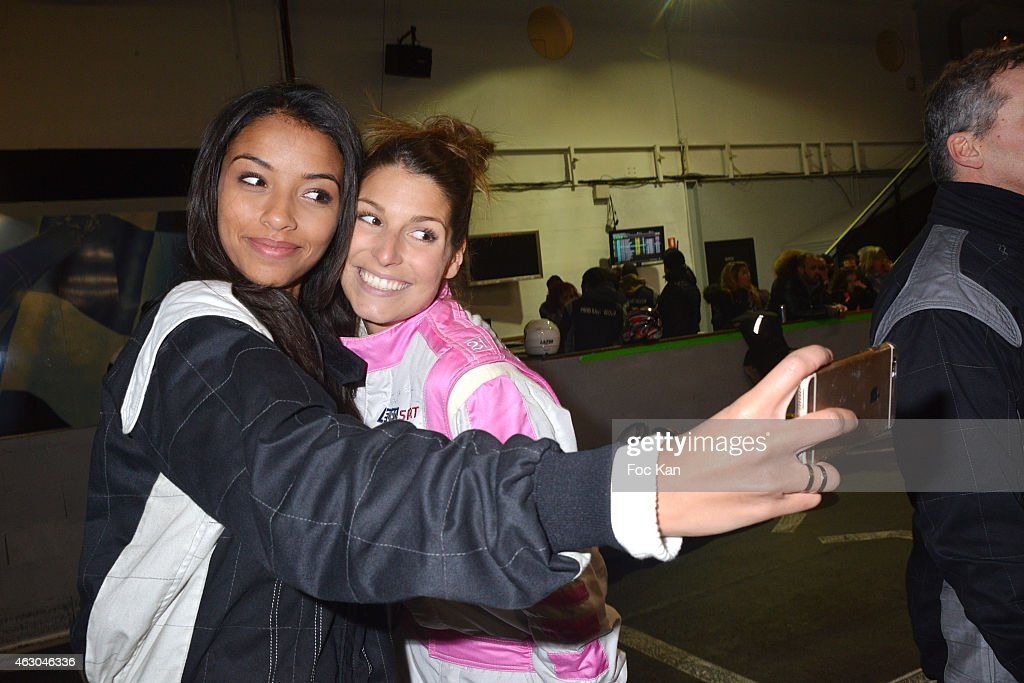 misses france flora coquerel and laury thilleman attend 39 une course news photo getty images. Black Bedroom Furniture Sets. Home Design Ideas