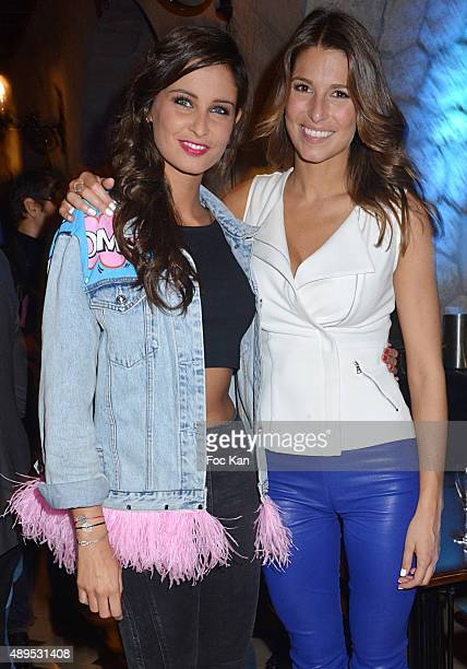Misses France Malika Menard and Laury Thilleman attend the 'FIFA 16 Live Event' at the Faust Club on September 21 2015 in Paris France