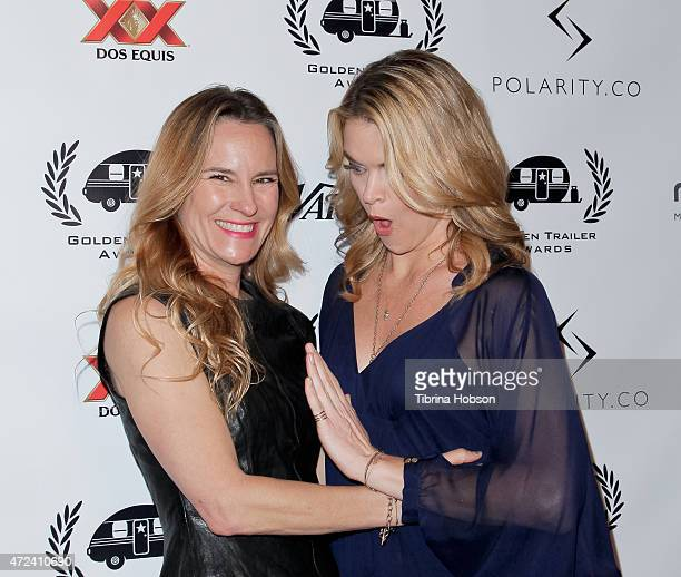 Missi Pyle and her friend attend the 16th annual Golden Trailer Awards at Saban Theatre on May 6 2015 in Beverly Hills California