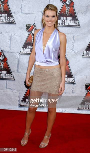 Missi Pyle during MTV Movie Awards 2004 Arrivals at Sony Pictures Studios in Culver City California United States