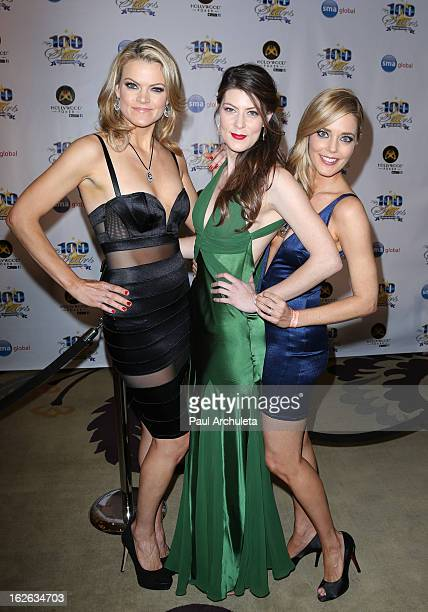 Missi Pyle Meredith Pyle and Christina Moore attend the 23rd annual Night Of 100 Stars Oscars viewing gala at the Beverly Hills Hotel on February 24...