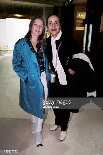 Missia Piccoli and Dominique Blanc attend the Agnes B show as part of the Paris Fashion Week Womenswear Fall/Winter 2019/2020 on March 04 2019 in...