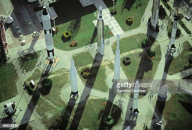 missile garden at kennedy space center, florida - nasa kennedy space center stock photos and pictures