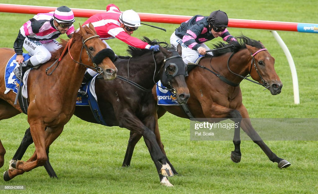 Missile Man ridden by Ryan Maloney wins the Craigs Royal Hotel 3YO Maiden Plate at Sportsbet-Ballarat Racecourse on October 12, 2017 in Ballarat, Australia.
