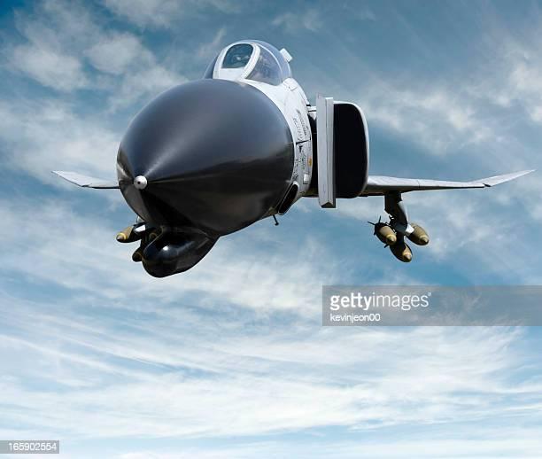 Missile on a fighter jet