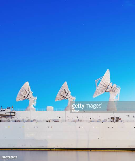 missile range instrumentation ship - defending stock pictures, royalty-free photos & images