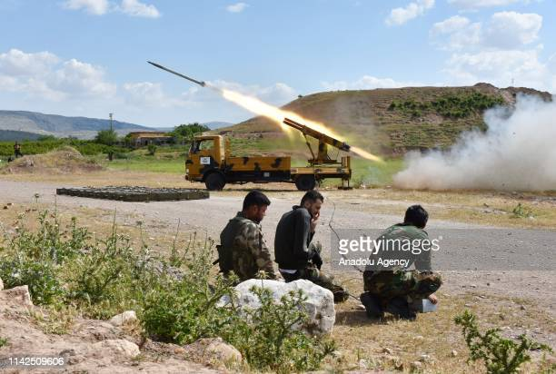 Missile vehicle of Free Syrian Army launches a missile to hit the points of Assad regime and terror groups in Aleppo to retaliate against YPG/PKK...
