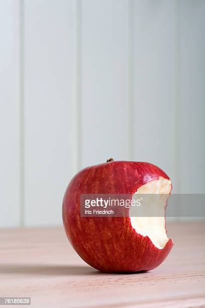 Missing bite from an apple