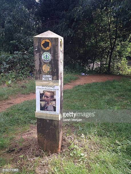 Missing Hanwell teenager Alice Gross A missing poster next to the canal/river walk near where Alice was last seen in Hanwell