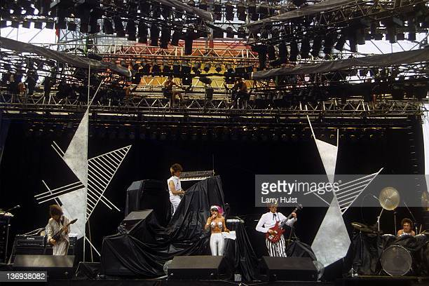 Missing Persons performs at the US Festival in Devore California on May 28 1983