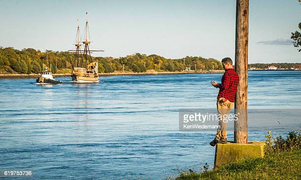 missing the action - the mayflower stock photos and pictures