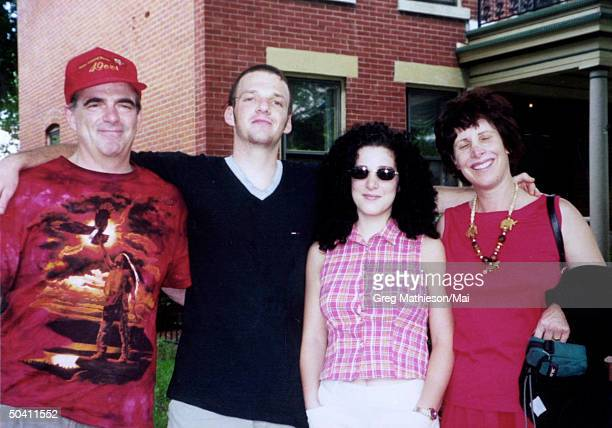 Missing Washington intern Chandra Levy w. Her mother Susan , father Robert and brother Adam .