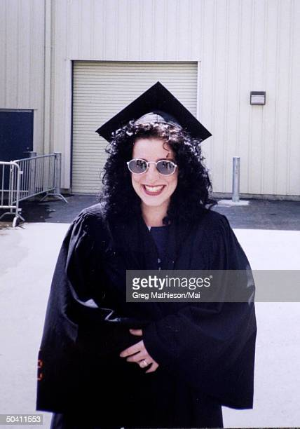 Missing Washington intern Chandra Levy, wearing cap and gown.