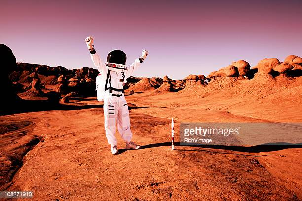 mission accomplished! - mars stock pictures, royalty-free photos & images