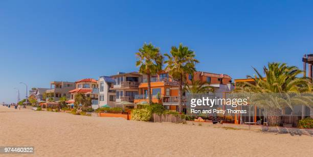 mission bay beach houses on sand in san diego, california(p) - san diego stock pictures, royalty-free photos & images