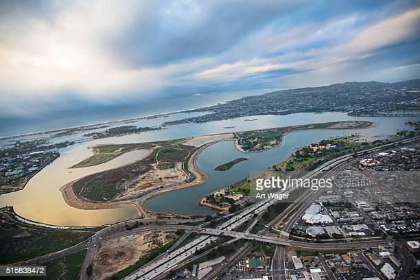 Mission Bucht in San Diego von oben