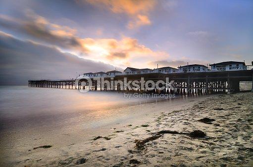 Mission Beach Pier Stock Photo