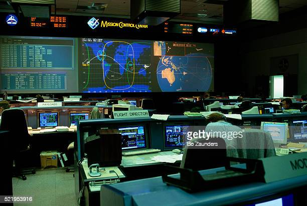 mission control at nasa johnson space flight center - nasa stock pictures, royalty-free photos & images