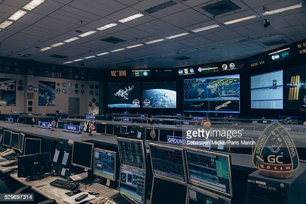 NASA mission control center where activities of the International Space Station are run is photographed for Paris Match at the Johnson Space Center...