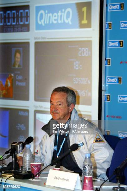 Mission Control Director Brian Jones attends the second press briefing of the day at Mission Control in St Ives Cornwall to make the official...
