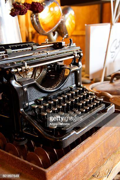 An old typewriter on display in a shop in the Mission District of San Francisco.