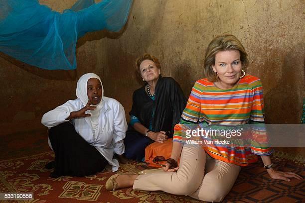 Mission en Éthiopie de la Reine Mathilde Présidente d'honneur d'UNICEF Belgique Zending in Ethiopia van Koningin Mathilde in het kader van haar...