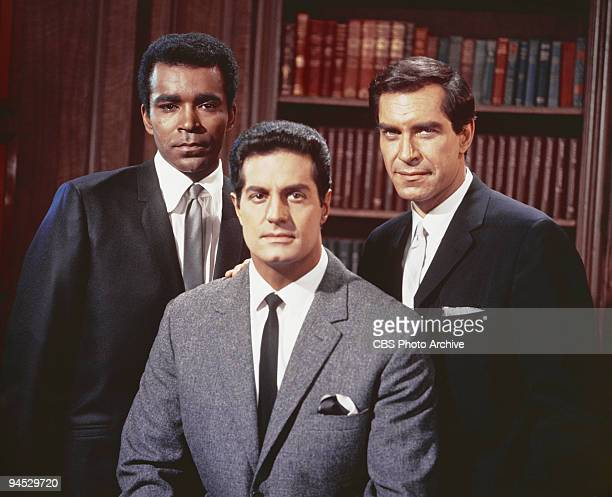 Impossible cast members from left Greg Morris as Barney Collier Peter Lupus as Willy Armitage and Martin Landau as Rollin Hand June 28 1968