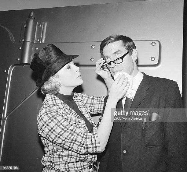 Impossible featuring from left Barbara Bain as Cinnamon Carter and Martin Landau as Rollin Hand for episode �The Vault� January 14 1969