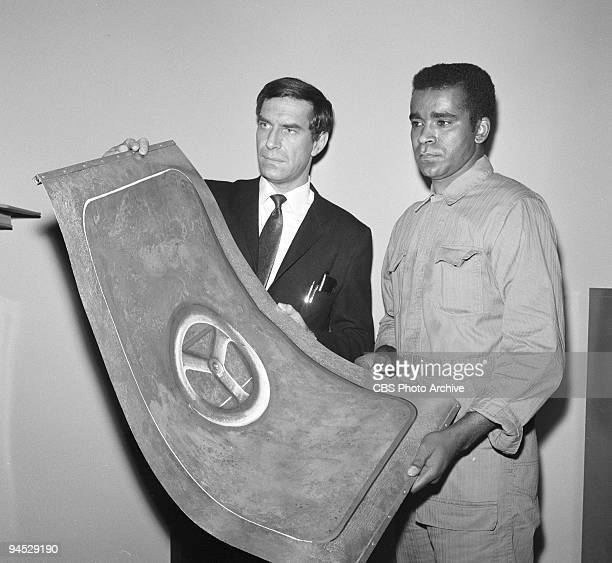 Impossible featuring from left Martin Landau as Rollin Hand and Greg Morris as Barney Collier for episode �The Vault� January 14 1969